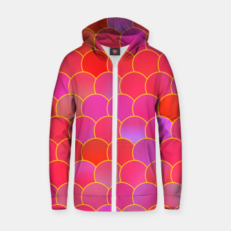 Miniatur Blobs Pattern ypr Zip up hoodie, Live Heroes