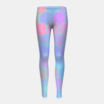 Thumbnail image of Blobs Pattern ti Girl's leggings, Live Heroes