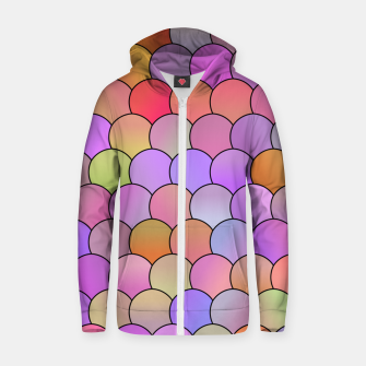 Miniatur Blobs Pattern Zip up hoodie, Live Heroes