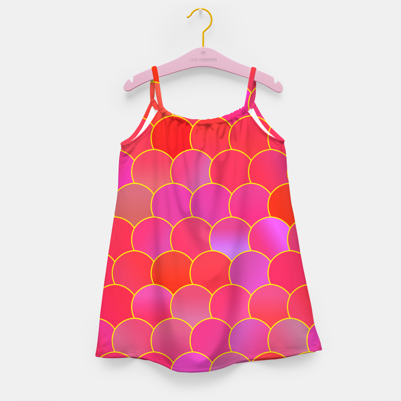 Image de Blobs Pattern ypr Girl's dress - Live Heroes