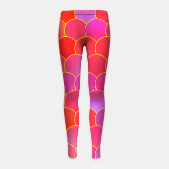 Miniature de image de Blobs Pattern ypr Girl's leggings, Live Heroes