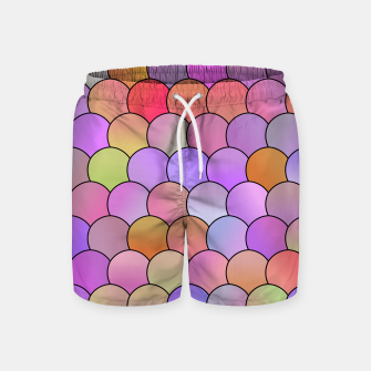 Miniatur Blobs Pattern Swim Shorts, Live Heroes