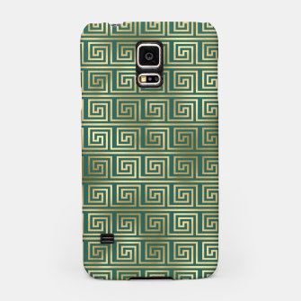 Thumbnail image of Teal and Gold Vintage Art Deco Greek Key Pattern Samsung Case, Live Heroes