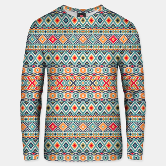 Thumbnail image of Bohemian Vintage Moroccan Style Pattern Illustratio Unisex sweater, Live Heroes
