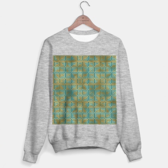 Thumbnail image of Teal and Gold Vintage Art Deco Greek Key Pattern Sweater regular, Live Heroes