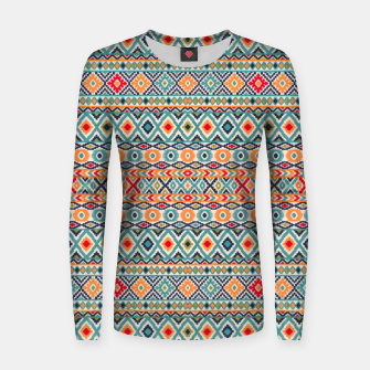 Thumbnail image of Bohemian Vintage Moroccan Style Pattern Illustratio Women sweater, Live Heroes
