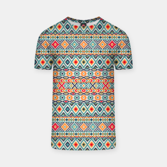 Thumbnail image of Bohemian Vintage Moroccan Style Pattern Illustratio T-shirt, Live Heroes