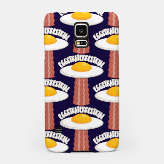 Eggstraterrestrial With Text Pattern Samsung Case Bild der Miniatur