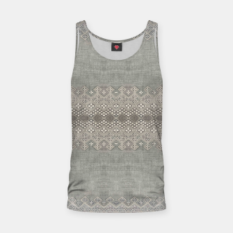 Miniatur Farmhouse Traditional African Boho Style  Tank Top, Live Heroes