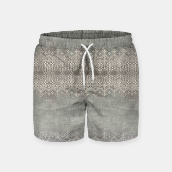 Miniatur Farmhouse Traditional African Boho Style  Swim Shorts, Live Heroes