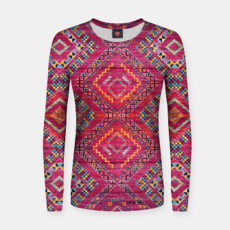 Miniatur Pink Traditional Oriental Moroccan Style Artwork Women sweater, Live Heroes