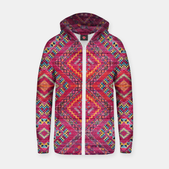 Miniatur Pink Traditional Oriental Moroccan Style Artwork Zip up hoodie, Live Heroes