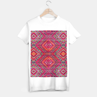 Miniatur Pink Traditional Oriental Moroccan Style Artwork T-shirt regular, Live Heroes