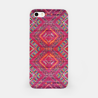 Miniatur Pink Traditional Oriental Moroccan Style Artwork iPhone Case, Live Heroes