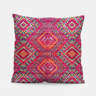 Miniatur Pink Traditional Oriental Moroccan Style Artwork Pillow, Live Heroes