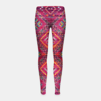 Miniatur Pink Traditional Oriental Moroccan Style Artwork Girl's leggings, Live Heroes