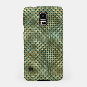 Miniatur Teal and Gold Vintage Circles Pattern Samsung Case, Live Heroes