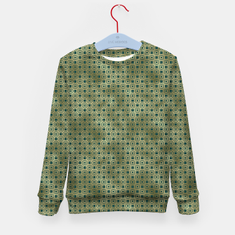 Miniatur Teal and Gold Vintage Circles Pattern Kid's sweater, Live Heroes