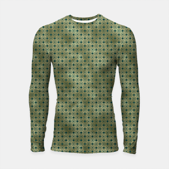Miniatur Teal and Gold Vintage Circles Pattern Longsleeve rashguard , Live Heroes