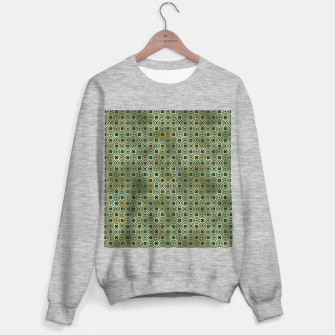 Miniatur Teal and Gold Vintage Circles Pattern Sweater regular, Live Heroes