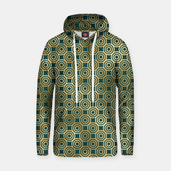 Thumbnail image of Teal and Gold Vintage Circles Pattern Hoodie, Live Heroes