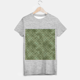 Miniatur Teal and Gold Vintage Circles Pattern T-shirt regular, Live Heroes