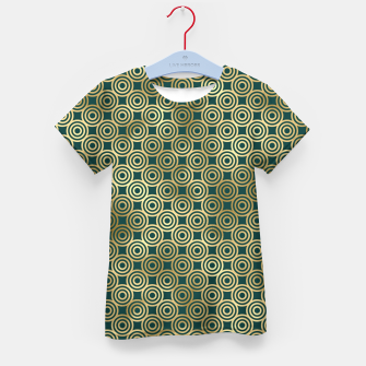 Miniatur Teal and Gold Vintage Circles Pattern Kid's t-shirt, Live Heroes