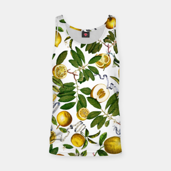 Thumbnail image of Lemon Tree white long Tank Top, Live Heroes