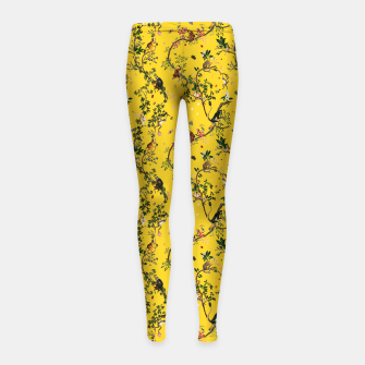 Thumbnail image of Monkey World yellow Kids Leggings, Live Heroes