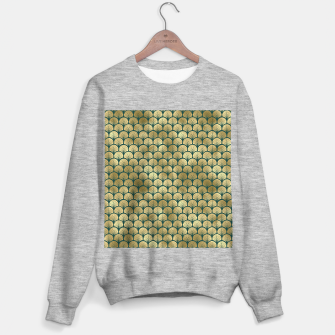 Thumbnail image of Teal and Gold Vintage Art Deco Fan Palms Pattern Sweater regular, Live Heroes