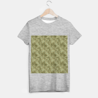 Thumbnail image of Teal and Gold Vintage Art Deco Fan Palms Pattern T-shirt regular, Live Heroes