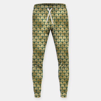 Thumbnail image of Teal and Gold Vintage Art Deco Fan Palms Pattern Sweatpants, Live Heroes