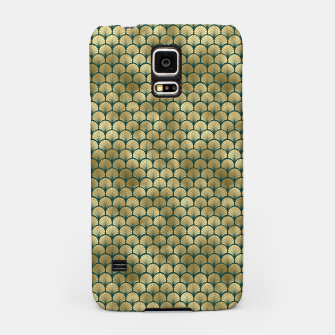 Thumbnail image of Teal and Gold Vintage Art Deco Fan Palms Pattern Samsung Case, Live Heroes