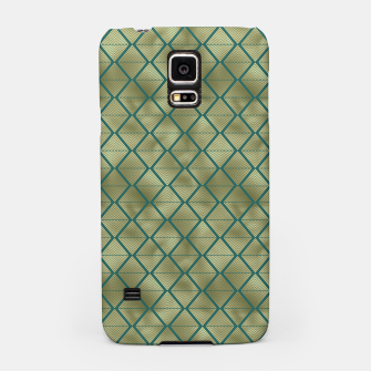 Thumbnail image of Teal and Gold Vintage Art Deco Lined Diamonds Pattern Samsung Case, Live Heroes