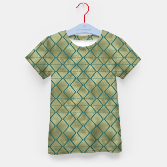 Thumbnail image of Teal and Gold Vintage Art Deco Lined Diamonds Pattern Kid's t-shirt, Live Heroes