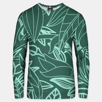 Thumbnail image of Minimal Jungle - tropical leaves Unisex sweater, Live Heroes