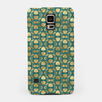 Thumbnail image of Teal and Gold Vintage Art Deco Scallop Shell Pattern Samsung Case, Live Heroes