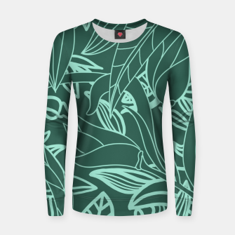 Thumbnail image of Minimal Jungle - tropical leaves Women sweater, Live Heroes