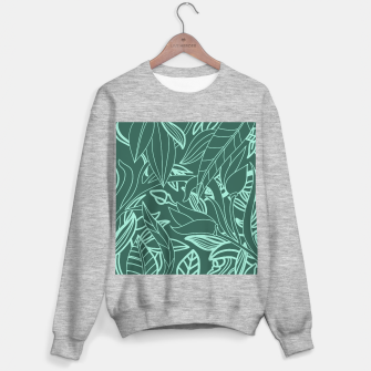 Thumbnail image of Minimal Jungle - tropical leaves Sweater regular, Live Heroes