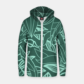 Miniatur Minimal Jungle - tropical leaves Zip up hoodie, Live Heroes