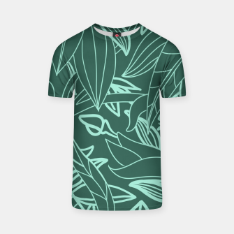 Thumbnail image of Minimal Jungle - tropical leaves T-shirt, Live Heroes