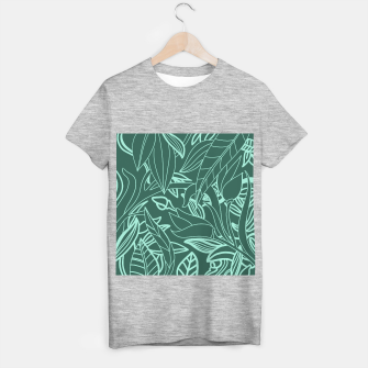 Miniatur Minimal Jungle - tropical leaves T-shirt regular, Live Heroes