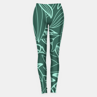 Thumbnail image of Minimal Jungle - tropical leaves Leggings, Live Heroes