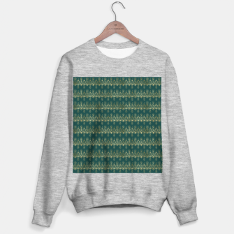 Miniatur Teal and Gold Vintage Art Deco Damask Border Pattern Sweater regular, Live Heroes