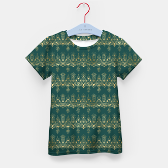 Miniatur Teal and Gold Vintage Art Deco Damask Border Pattern Kid's t-shirt, Live Heroes