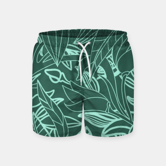 Thumbnail image of Minimal Jungle - tropical leaves Swim Shorts, Live Heroes