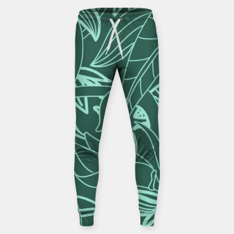 Thumbnail image of Minimal Jungle - tropical leaves Sweatpants, Live Heroes