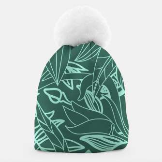 Thumbnail image of Minimal Jungle - tropical leaves Beanie, Live Heroes