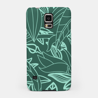 Miniatur Minimal Jungle - tropical leaves Samsung Case, Live Heroes