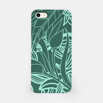 Miniatur Minimal Jungle - tropical leaves iPhone Case, Live Heroes